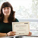 Rebecca Novy receives IEEE PES Scholarship